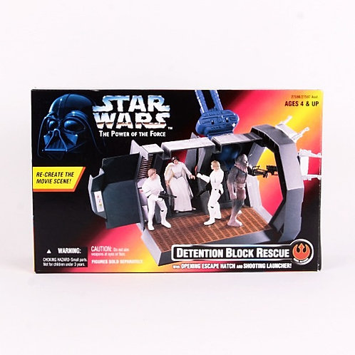 Detention Block Rescue - Classic 1996 Star Wars - Power of the Force - Playset