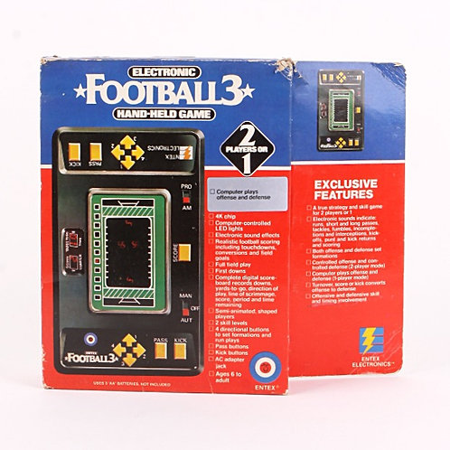Football 3 - Vintage 1980 Handheld Electronic Sports Game - Entex