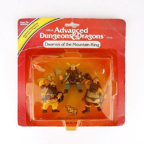 Dwarves of the Mountain King - Vintage 1982 Dungeons & Dragons Figures Ljn Toys