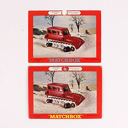 Snow Tractor #35 - Vintage 1969 Frame Tray Puzzle - Matchbox
