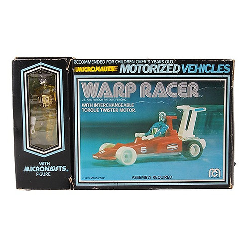 Warp Racer & Yellow Time Traveler - Vintage 1976 Micronauts - Mego