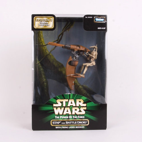 STAP & Battle Droid - Classic 1998 Star Wars Power of the Force - Action Figure