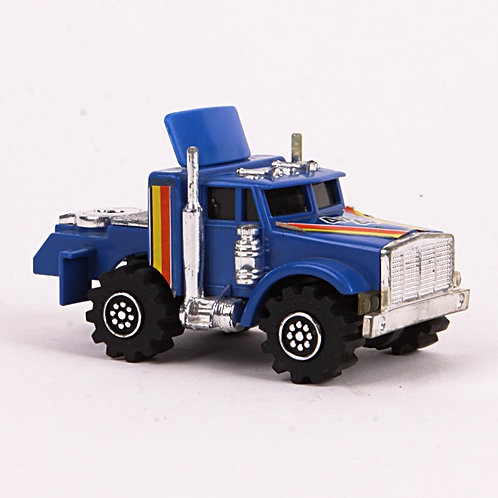 Semi Truck Jeep Hauler - Vintage 1981 Rough Riders 4x4 - Ljn Toys