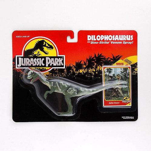 Dilophosaurus - Classic 1993 Jurassic Park Action Figure W1 - Kenner