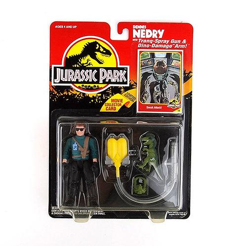 Dennis Nedry - Classic 1993 Jurassic Park Action Figure W1 - Kenner