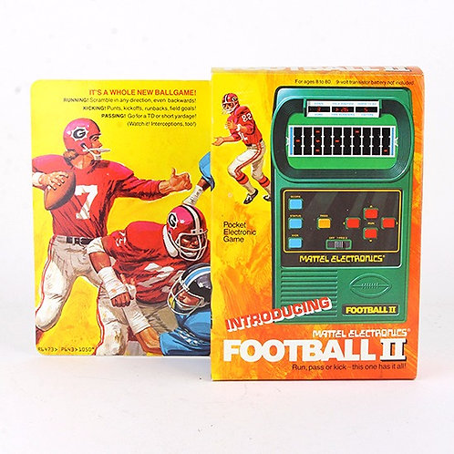 Football II - Vintage 1978 Electronic Handheld Sports Game - Mattel