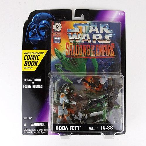 Boba Fett vs IG-88 - 1996 Star Wars Shadows of the Empire Action Figures  Kenner