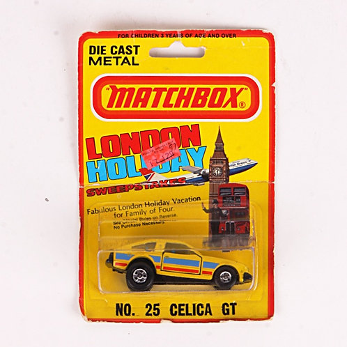 Celica GT #25 - Vintage 1981 Matchbox / Lesney Die Cast Vehicle