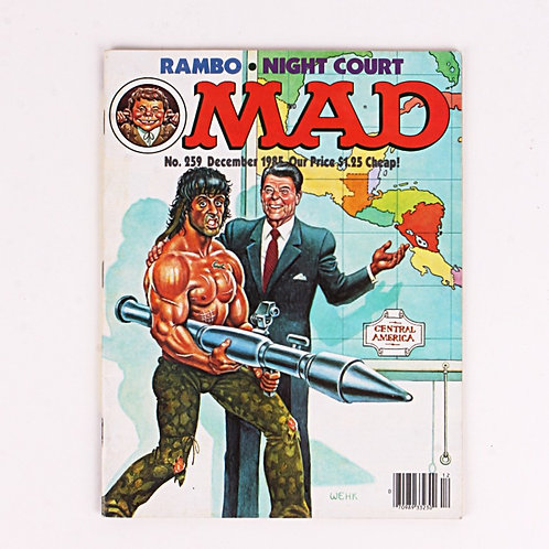 Mad Magazine - Vintage Dec 1985 # 259 - Rambo - Night Court