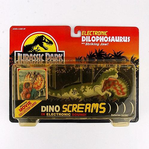 Electronic Dilophosaurus - Classic 1993 Jurassic Park Action Figure W1 - Kenner