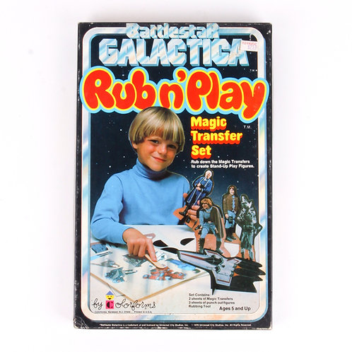 Battlestar Galactica - Vintage 1978 Rub n' Play Magic Transfer Set - Colorforms