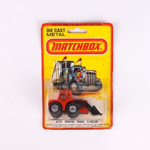 Shovel Nose Tractor #29 - Vintage 1980 Matchbox / Lesney Die Cast Vehicle