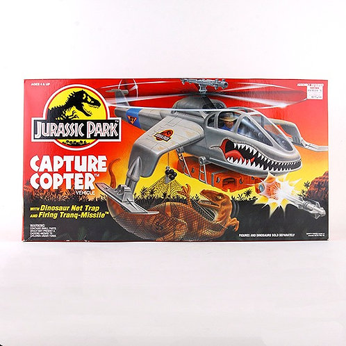 Capture Copter - Classic 1993 Jurassic Park Vehicle W1 - Kenner