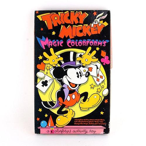 Tricky Mickey - Vintage 1970s Magic Activity Set - Colorforms