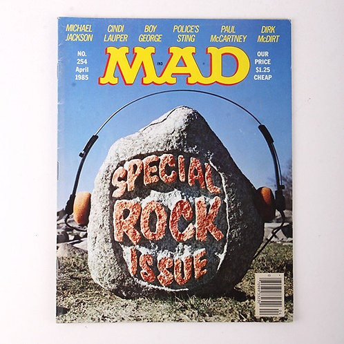 Mad Magazine - Vintage April 1985 # 254 - Special Rock Issue