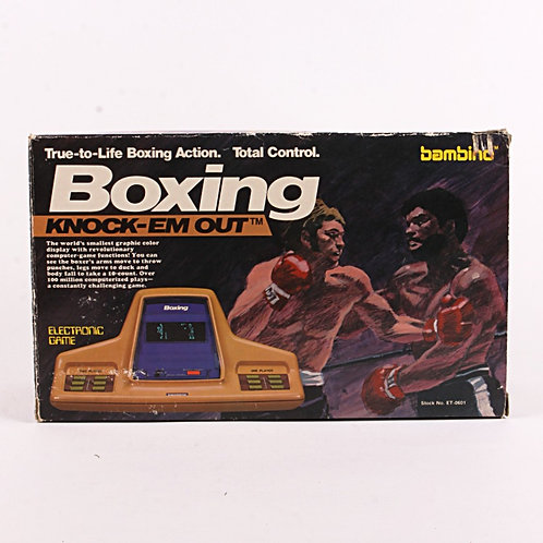 Knock-Em Out Boxing - Vintage 1979 Electronic Tabletop Sports Game - Bambino
