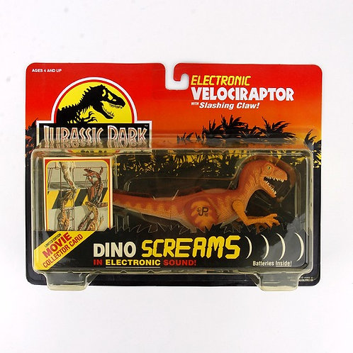 Electronic Velociraptor - Classic 1993 Jurassic Park Action Figure W1 - Kenner