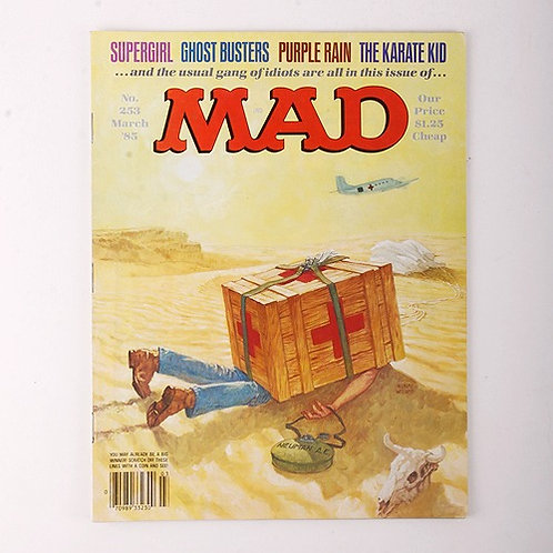 Mad Magazine - Vintage March 1985 # 253 - Ghost Busters - Karate Kid - Supergirl