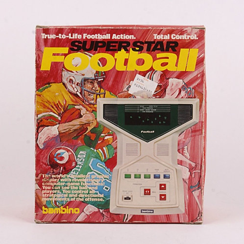 Superstar Football - Vintage 1979 Electronic Tabletop Sports Game - Bambino