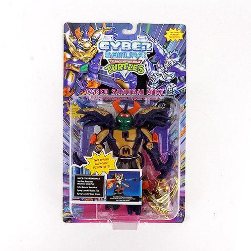 Cyber Samurai Mike - 1994 Teenage Mutant Ninja Turtles Action Figure - Playmates