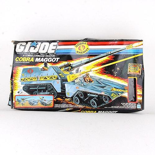 Cobra Maggot & W.O.R.M.S. - Vintage 1987 G.I. Joe Vehicle & Figure - Hasbro