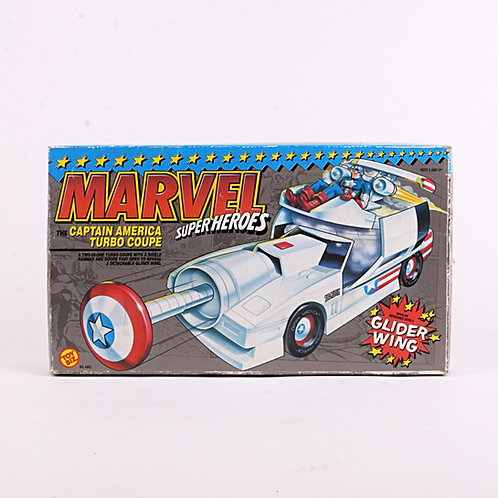 Captain America Turbo Coupe - 1990 Marvel Superhero's - Action Figure Vehicle