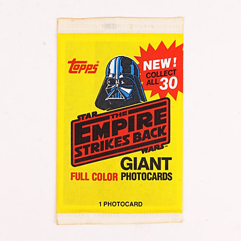 1 Giant Photocard - Vintage 1980 Star Wars The Empire Strikes Back - Topps