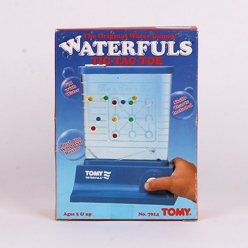 Tic-Tac-Toe - Vintage 1987 Waterfuls Game - Tomy