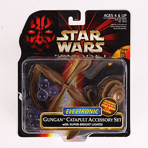 Gungan Catapult - 1999 Star Wars The Phantom Menace - Electronic Accessory Set