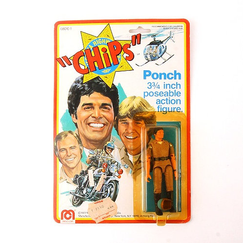Ponch - Vintage 1977 CHiPs - Action Figure - Mego