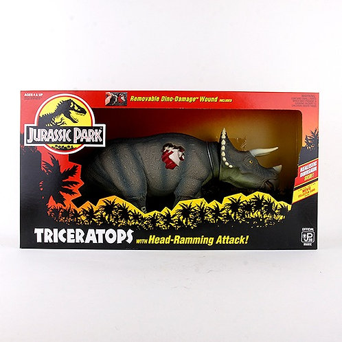 Triceratops - Classic 1993 Jurassic Park Action Figure W1 - Kenner