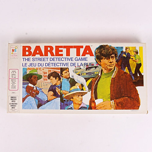 Baretta - Vintage 1976 Street Detective Board Game - Milton Bradley
