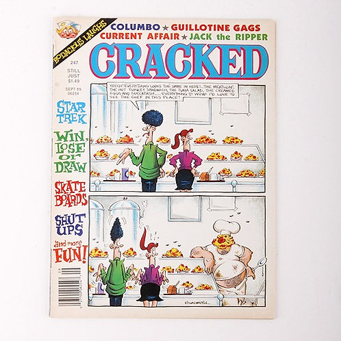 Cracked Magazine - Vintage Sept 1989 # 247 - Columbo - Star Trek