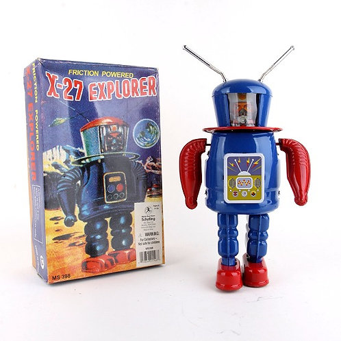 X-27 Explorer - Classic Friction Powered Tin Toy - Schylling