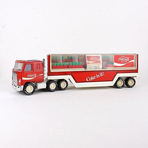 Coca Cola - Vintage 1980 Semi Truck & Trailer - Buddy L