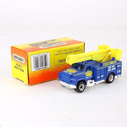 Utility Truck #33 - Classic 1996 Die Cast Vehicle - Matchbox