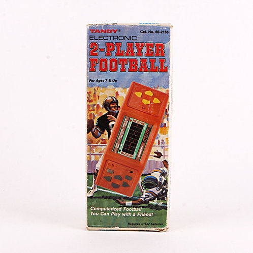 2 Player Football - Vintage 1981 Electronic Handheld Sports Game - Tandy