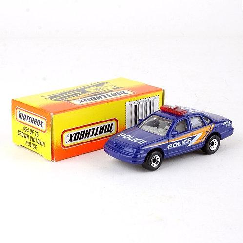 Crown Victoria Police #54 - Classic 1996 Die Cast Vehicle - Matchbox