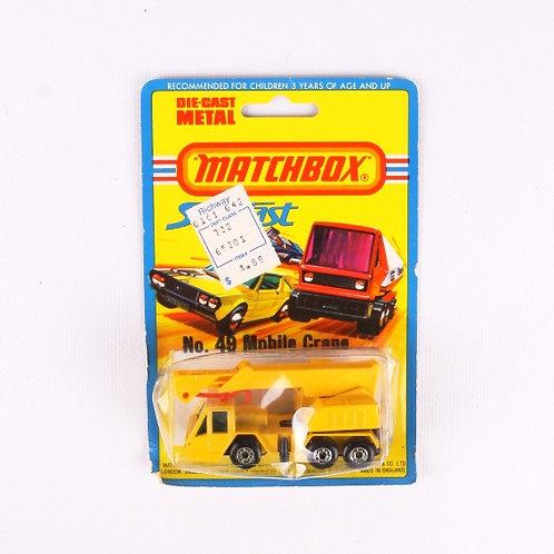 Mobile Crane #49 - Vintage 1976 Matchbox / Lesney Die Cast Vehicle