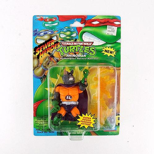 Rhinoman - 1993 Teenage Mutant Ninja Turtles Sewer Heroes Figure - Playmates