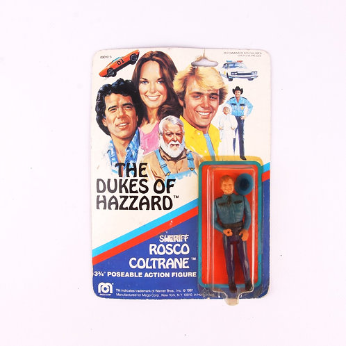 Sheriff Rosco Coltrane - Vintage 1981 The Dukes of Hazzard - Mego Action Figure