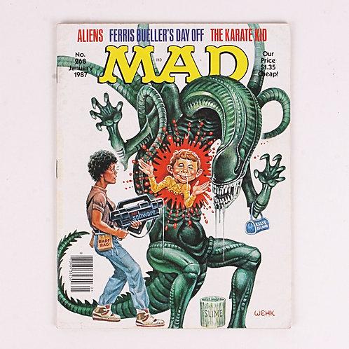 Mad Magazine - Vintage Jan 1987 # 268 - Aliens - The Karate kid