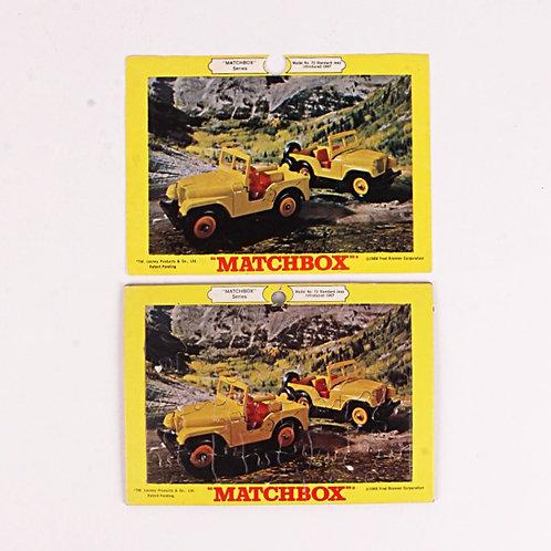 Standard Jeep #72 - Vintage 1969 Frame Tray Puzzle - Matchbox / Lesney