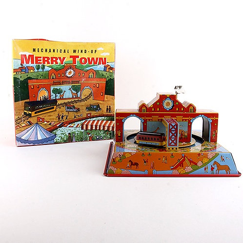 Merry Town - Classic Windup Tin Toy - Ha Ha Toy