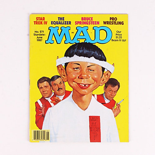 Mad Magazine - Vintage June 1987 # 271 - Star Trek