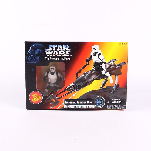 Imperial Speeder Bike - Classic 1995 Star Wars Power of the Force  Action Figure