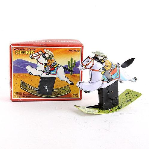 Rocking Cowboy - Classic Windup Tin Toy - Schylling