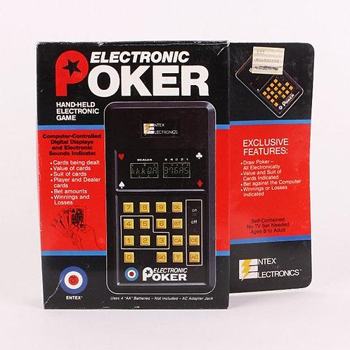 Poker - Vintage 1979 Handheld Electronic Card Game - Entex