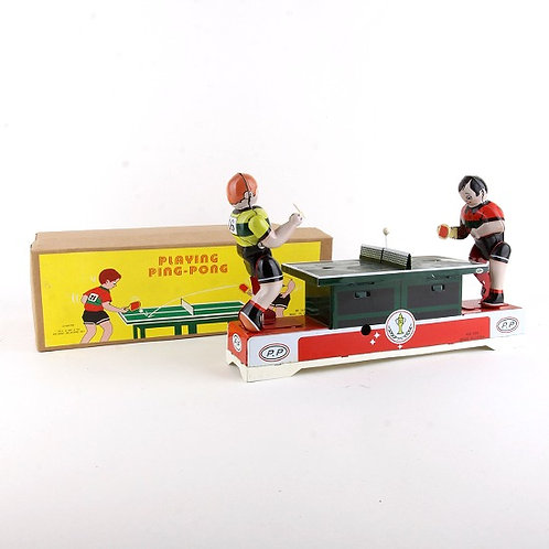 Playing Ping-Pong - Classic Windup Tin Toy