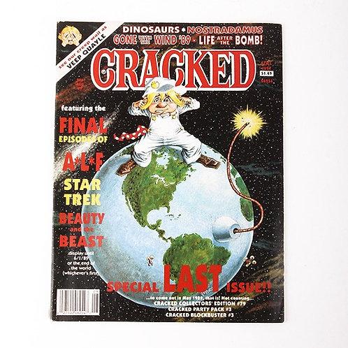 Cracked Magazine - Vintage Aug 1989 # 246 - ALF - Star Trek